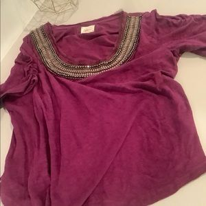 Anthropologie Necklace Tee